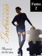 Купить Intressio Колготки Barocco 40/80 den Fumo (Серая дымка) размер 1/2-S