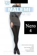 Купить Malemi Колготки Cotton Lana 150 den Nero (Черный) размер 4-L