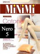 Купить MiNiMi Колготки Cotone 250 den Nero (Черный) размер 5-XL