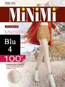 Купить MiNiMi Колготки Marseille 100 den Blu (Синий) размер 4-L