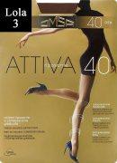 Купить Omsa Колготки Attiva с шортиками 40 den Lola (Сиреневато-коричневый) размер 3-M