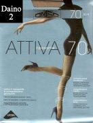 Купить Omsa Колготки Attiva с шортиками 70 den Daino (Светло-коричневый) размер 2-S