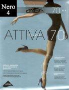 Купить Omsa Колготки Attiva с шортиками 70 den Nero (Черный) размер 4-L