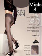 Купить Sisi Колготки Style прозрачные с ажурными трусиками 20 den Miele (Легкий загар) размер 4-L