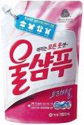 Купить Aekyung жидкое средство для стирки Wool Shampoo 1300мл Original деликатных тканей в мягкой упаковке