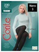 Купить Conte Колготки капроновые Elegant Triumf 220 den Nero (Черный) размер 3-M