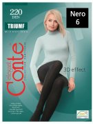 Купить Conte Колготки капроновые Elegant Triumf 220 den Nero (Черный) размер 6-XXL