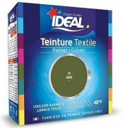Купить Ideal Maxi Текстильная краска двухкомпонентная для одежды и тканей из хлопка, льна, шелка и вискозы 75мл + 100г Хаки