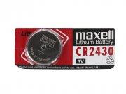 Купить Maxell батарейка CR2430 Lithium 3v, цена за 1шт