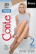 Купить Conte Носочки Tension 20 den Bronz (Коричневый) 2 пары