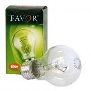 Купить Favor Лампа накаливания груша Е27 60W прозрачная A50