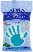 Купить Aura влажные салфетки Антибактериальные Ментол стикер рука 15шт