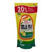 Купить Lion Mama Lemon Natural Lemon Концентрированное средство для мытья посуды и детских принадлежностей с Ароматом лимона 600мл запасной блок