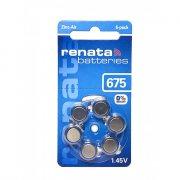 Купить Renata батарейка 675/PR44 для слухового аппарата, цена за 1шт