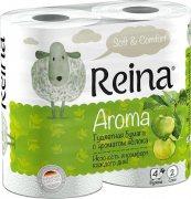 Купить Reina Aroma туалетная бумага двухслойная 4шт Яблоко