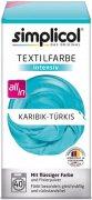 Купить Simplicol Intensiv краска текстильная для одежды и тканей 150мл + 400г Бирюзового цвета