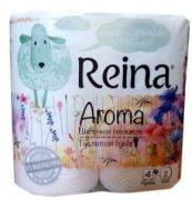 Купить Reina Aroma туалетная бумага двухслойная 4шт Цветочная свежесть