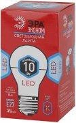 Купить Эра Лампа ECO светодиодная груша E27 10W 4000k цвет: холодный LED A60-10W-840-E27