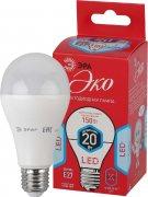Купить Эра Лампа ECO светодиодная груша E27 20W 4000k цвет: холодный LED  A65-20W-840-E27