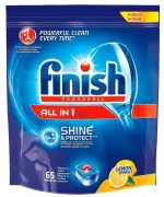 Купить Finish таблетки для посудомоечной машины 65шт All in 1 Max Shine&Protect Лимон
