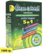 Купить Clean&Fresh порошок для всех типов посудомоечных машин 5в1 1000г