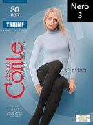 Купить Conte Колготки капроновые Elegant Triumf 80 den Nero (Черный) размер 3-M