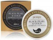 Купить Petitfee патчи для области вокруг глаз гидрогелевые с коллоидным золотом и пудрой черного жемчуга