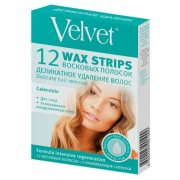 Купить Velvet восковые полоски для лица 12шт Деликатное удаление