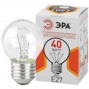 Купить Эра Лампа накаливания шар E27 40W