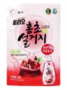 Купить Aekyung средство для мытья посуды Trio 1200мл Hongcho Гранат в мягкой упаковке