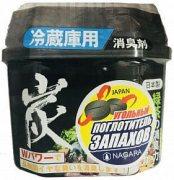 Купить Nagara поглотитель для устранения запаха в холодильнике 160г древесный уголь
