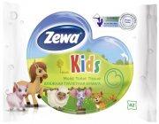 Купить Zewa туалетная бумага влажная 42шт Kids детская