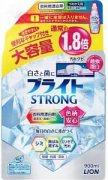 Купить Lion Bright Strong гель-отбеливатель кислородный для стройких загрязнений Супер Яркость с антибактериальным эффектом 900мл в мягкой упаковке