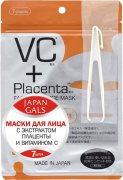 Купить Japan Gals маски для лица VC + Placenta с плацентой и витамином С 7шт