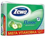Купить Zewa Plus туалетная бумага двухслойная 12шт Яблоко