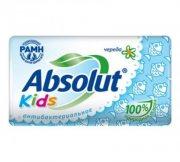 Купить Absolut мыло антибактериальное твердое кусковое 90г Kids Череда