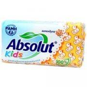 Купить Absolut мыло антибактериальное твердое кусковое 90г Kids Календула