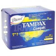 Купить Tampax тампоны Compak Regular 16шт 2 капли с аппликатором