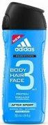 Купить Adidas гель для душа мужской 250мл After Sport 3в1