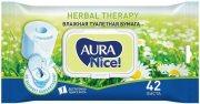 Купить Aura туалетная бумага влажная NICE с крышкой 42шт