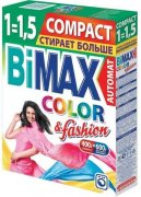 Купить Bimax стиральный порошок автомат 400г Color&Fashion Compact