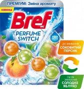 Купить Bref шарики для унитазов чистящие Premium: Perfume Switch 50г Сочный Персик-Яблоко