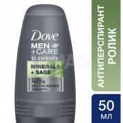 Купить Dove дезодорант шариковый мужской 50мл Свежесть минералов и шалфея