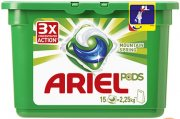 Купить Ariel гель для стирки в растворимых капсулах автомат 15шт x 28,8г Горный родник