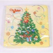 Купить Veiro Linia салфетки бумажные 33x33 3-слойные 20шт с рисунком Елочка