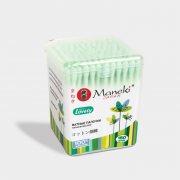 Купить Maneki Lovely ватные палочки гигиенические зеленые 150шт в пластиковой коробке
