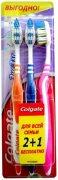 Купить Colgate зубная щетка ЗигЗаг средняя 2+1