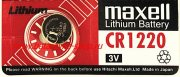 Купить Maxell батарейка CR1220 BL5 Lithium, цена за 1шт