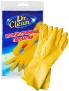 Купить Dr. Clean Хозяйственные латексные перчатки оранжевые 1 пара Размер S