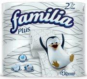 Купить Famillia Plus туалетная бумага двухслойная 4шт Белая